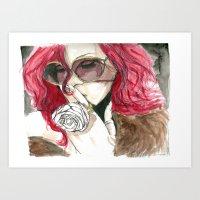 rihanna Art Prints featuring Rihanna by Dee Andrews
