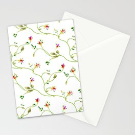 Chic Small Rose Pattern  Stationery Cards