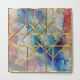 Elves Window - Pastel Marble Geometry Metal Print