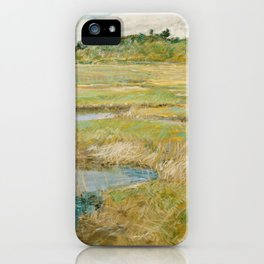 Childe Hassam - The Concord Meadow, 1891 iPhone Case
