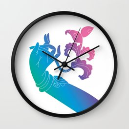 Rainbow Hand of Indian Dance Wall Clock