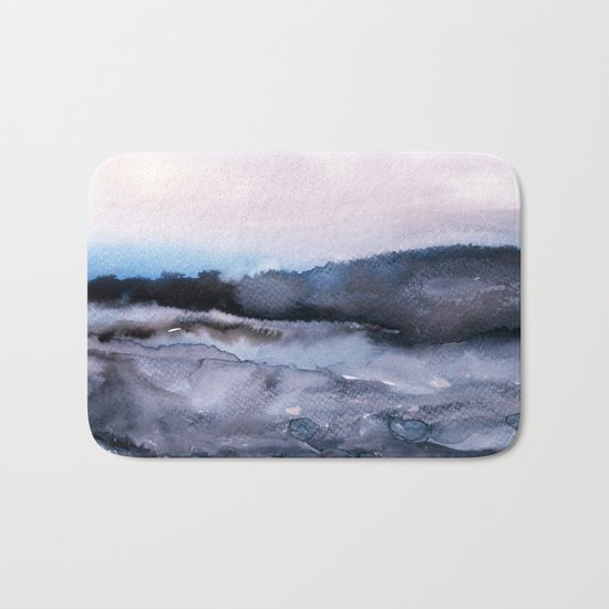 layers of colour 2 Bath Mat