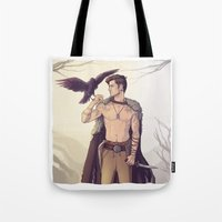 warrior Tote Bags featuring Warrior by brightfallenstars