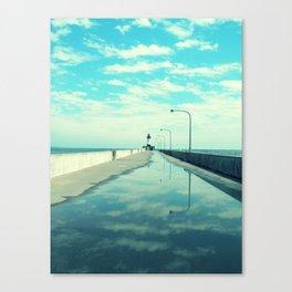 Breakwater Lighthouse Canvas Print