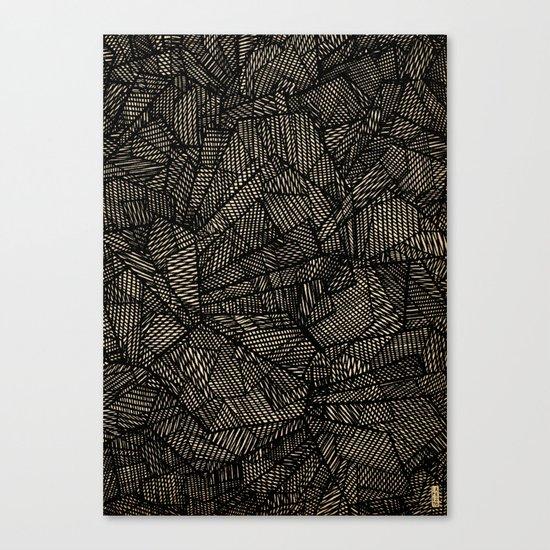 - étoile noire [blackstar] - Canvas Print