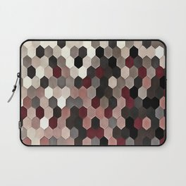 Hexagon Pattern In Gray and Burgundy Autumn Colors Laptop Sleeve