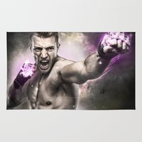 street fighter Area & Throw Rugs featuring Street Fighter by Apothec