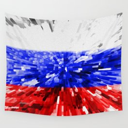 Extruded Flag of Russia Wall Tapestry