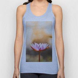 Pink Lotus Flower Unisex Tank Top