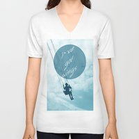 wings V-neck T-shirts featuring Wings by AA Morgenstern