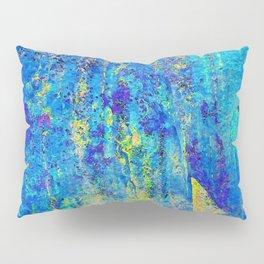 Blue and Gold Pillow Sham