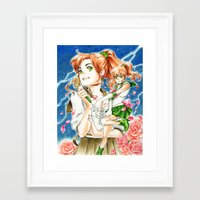 sailor jupiter Framed Art Prints featuring Sailor Jupiter by Audra Furuichi