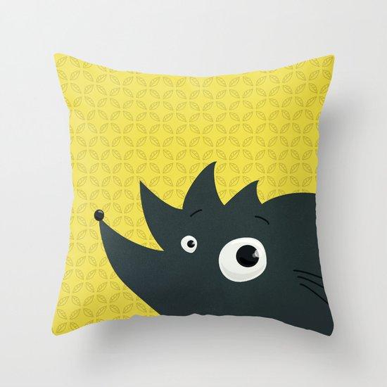 Cute Cartoon Hedgehog Throw Pillow