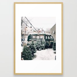 Let it Snow, Chicago Framed Art Print