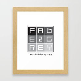 fade 2 grey Framed Art Print