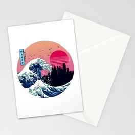 Detroit Kanagawa Wave Retro Aesthetic Stationery Cards