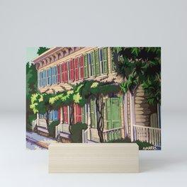 Rainbow Row Savannah Mini Art Print