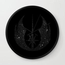 Jedi Order in Stars on Black Wall Clock
