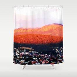 Dawn on Mt Wellington Shower Curtain