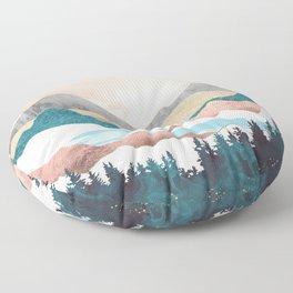 Lake Sunrise Floor Pillow