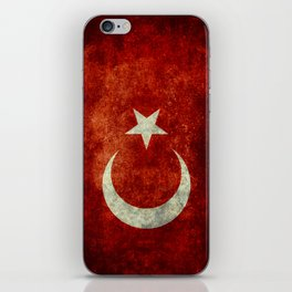 National flag of Turkey, Distressed worn version iPhone Skin