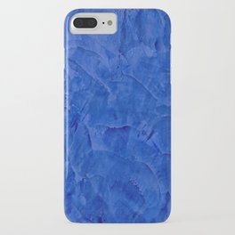 Dark Blue Ombre Burnished Stucco - Faux Finishes - Venetian Plaster iPhone Case