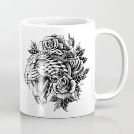 Ornate Leopard Black & White Variant Coffee Mug