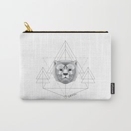 Geometric Bear Carry-All Pouch