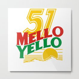 51 MELLO YELLO - DAYS OF THUNDER - TOM CRUISE Metal Print