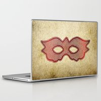 mask Laptop & iPad Skins featuring Mask by Bluishmuse