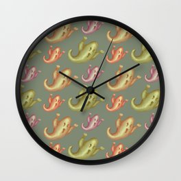 Funny ghosts pattern Wall Clock