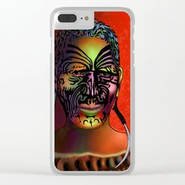Maori Warrior 3 Clear iPhone Case
