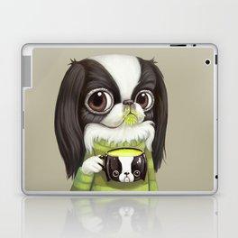 Japanese Chin Sips Matcha Latte Laptop & iPad Skin