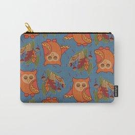 Festive Fall Owl Carry-All Pouch
