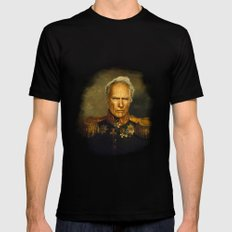 Clint Eastwood - replaceface Black 2X-LARGE Mens Fitted Tee