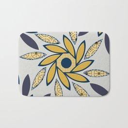 Sunflowers Octagon light gray Bath Mat