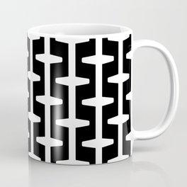 Geometric Pattern 207 (black white) Coffee Mug