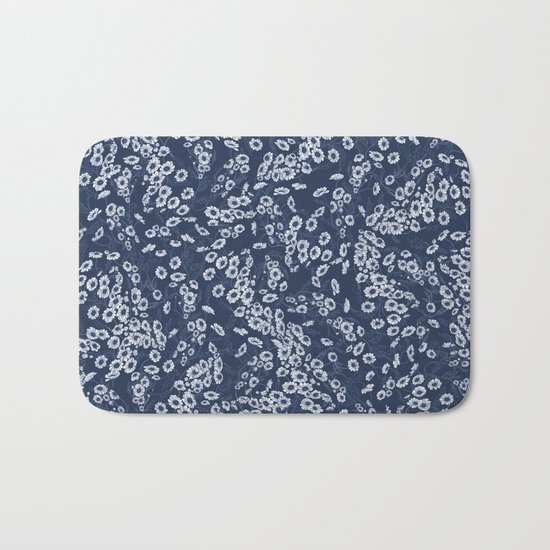 Daisy Dream Navy Bath Mat