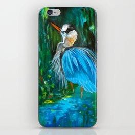 Blue Heron iPhone Skin