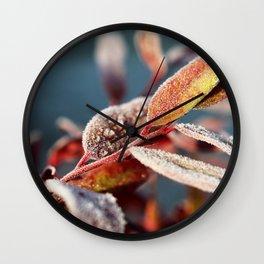 Winter leafs Wall Clock
