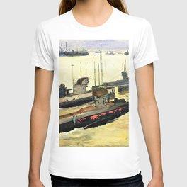 12,000pixel-500dpi - Sir John Lavery - British Mine-laying Submarines, Harwich - Digital Remaster T-shirt
