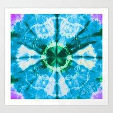 Boho Blue Bloom Art Print