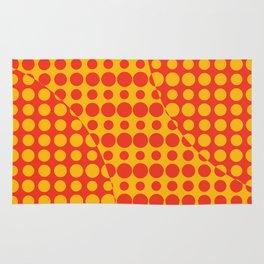 Orange Grunge Background Rug