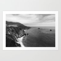 big sur Art Prints featuring Big Sur by Sierra Vance