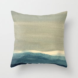 Grey Landscape Throw Pillow