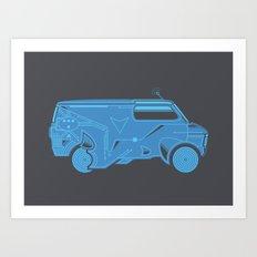 TRON Van Art Print