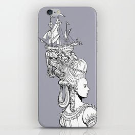 Girl With Ship iPhone Skin