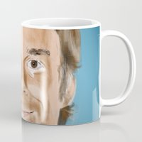 dexter Mugs featuring Dexter by Thousand Lines Ink