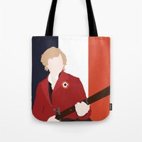 enjolras Tote Bags featuring ENJOLRAS – LES MISÉRABLES by K. Frank