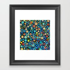 Dots on Painted Background Framed Art Print
